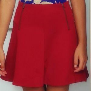 NWOT dynamite flared with zips mini skirt